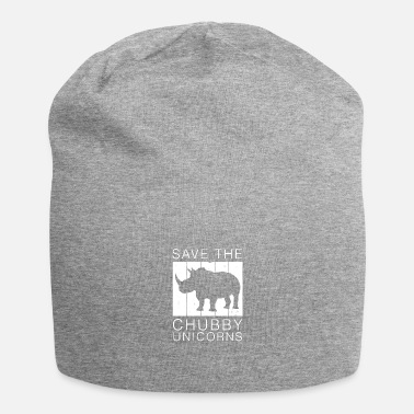 Redding Bewaar The Chubby Unicorns Rhino Rhinoceros Retro - Beanie