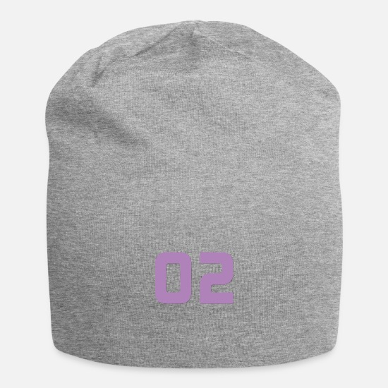 Birthday Caps & Hats - Jersey number 2 - Jersey number 2 - Beanie heather grey