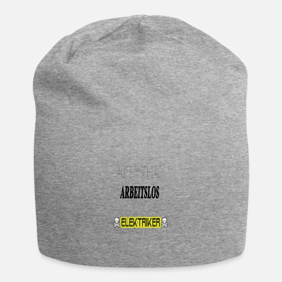 Love Caps & Hats - Electrician - At a stroke Unemployed - Beanie heather grey