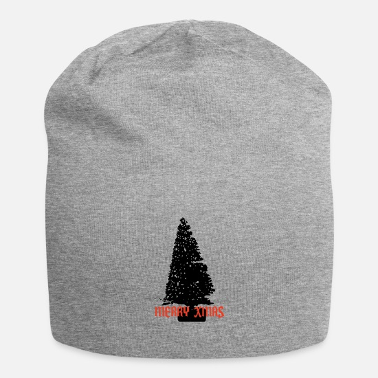 "Mulled Wine Caps & Hats - Christmas tree ""Merry Christmas"" - Beanie heather grey"