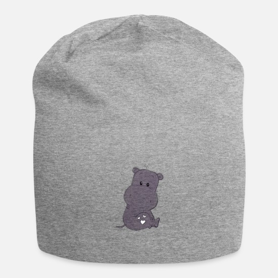 Kindergarten Caps & Hats - Hippo - Beanie heather grey