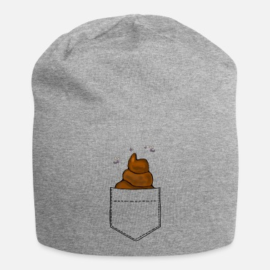 Restroom Breast pocket pile of droppings Funny - Beanie