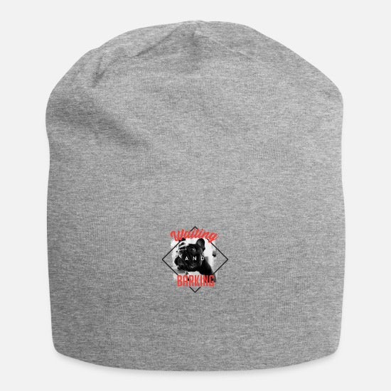 Gift Idea Caps & Hats - Dog waiting and barking - dog waiting and barking - Beanie heather grey