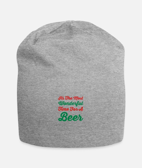 Drink Team Caps & Hats - It's the most wonderful time for a beer - Beanie heather grey