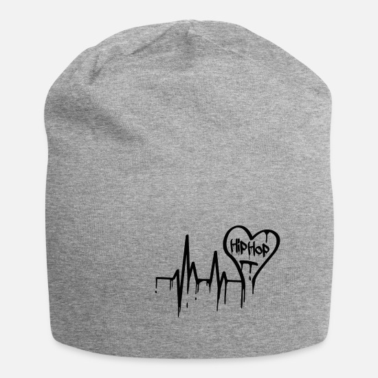 Rap Caps & Hats - Hip-hop old-school heartbeat - Beanie heather grey