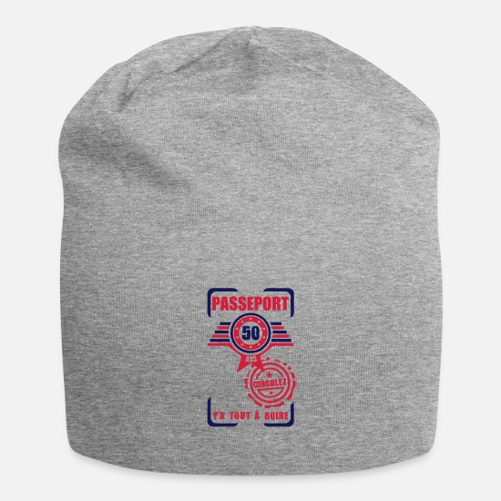 Birthday Caps & Hats - 50 years old birthday pass circulate - Beanie heather grey