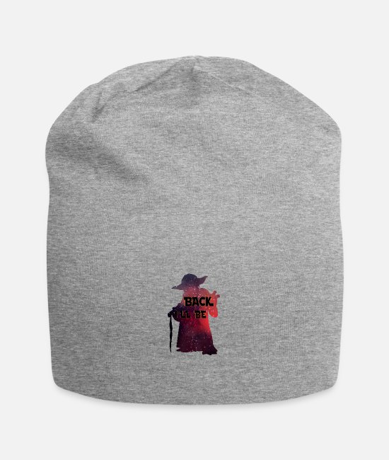 Chewbacca Caps & Hats - Yoda back I'll be - I'm back - Beanie heather grey