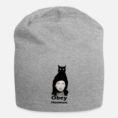 Obey Cat on head Obey Hooman - Beanie