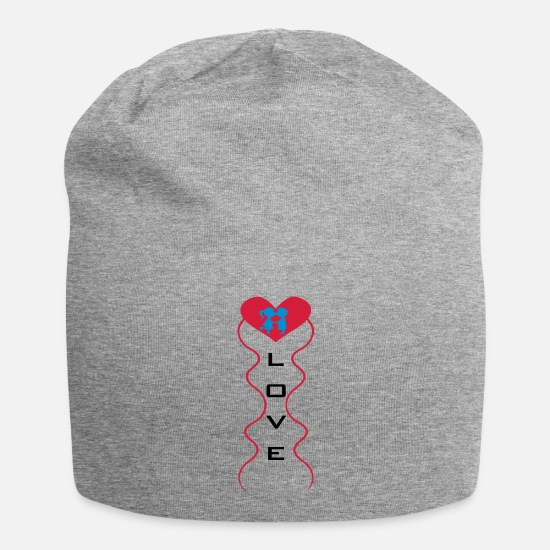 Love Caps & Hats - Love Couple - Beanie heather grey