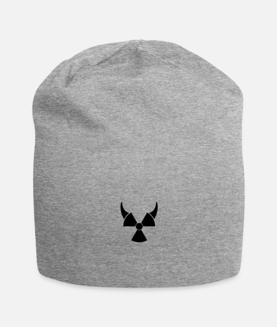 Symbol  Caps & Hats - Atom symbol with devil horns - Beanie heather grey