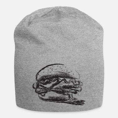 Hamburger design noir stylisé - Beanie
