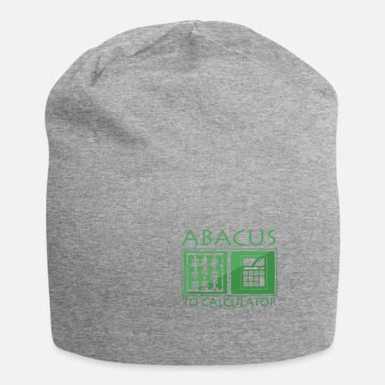 Easter Caps & Hats - Abacus to the calculator - Beanie heather grey