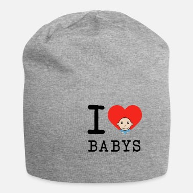 I Love Dad I love baby mother father child baby gift - Beanie