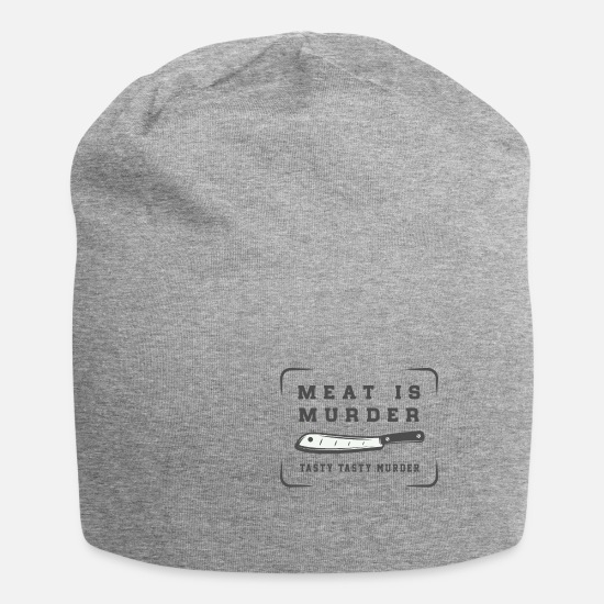 Carnivores Caps & Hats - Meat delicious - Beanie heather grey