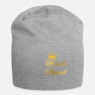 Guld Bride Squad Bachelor party med krona - Beanie