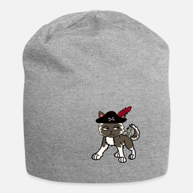 Buccaneer Funny cat pirate buccaneer with mouse - Beanie