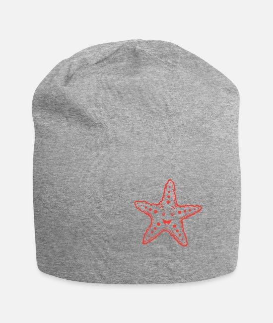 Marine Animal Caps & Hats - cute starfish animalis - Beanie heather grey