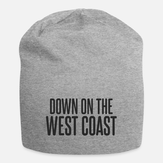 West Caps & Hats - down on the west coast T Shirt - Beanie heather grey