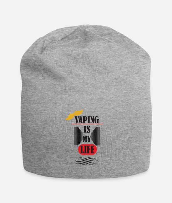 Cigarette Caps & Hats - vaping is my life 3 - Beanie heather grey