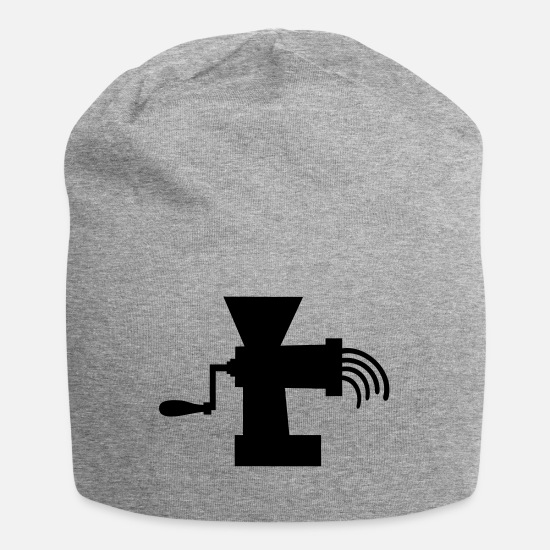Cook Caps & Hats - meat _grinder_b1 - Beanie heather grey