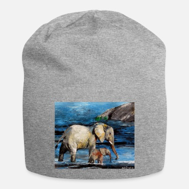 South Elephant cow with calf - Beanie