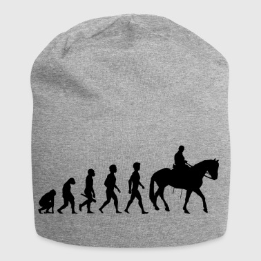 riding rider evolution horses riding cowboy2 - Jersey Beanie