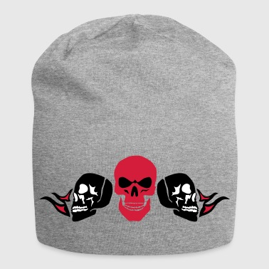 head of death face and profile crane - Jersey Beanie