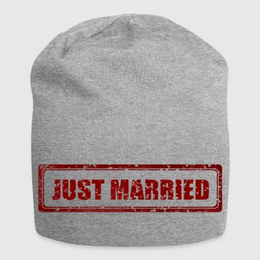 Just Married verse Married Married Huwelijk - Jersey-Beanie
