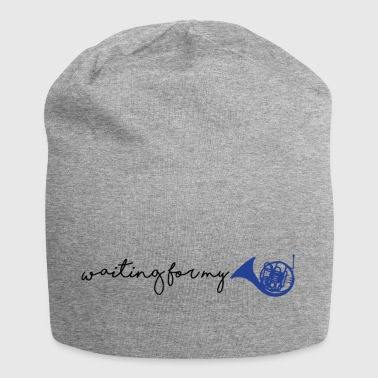 waiting for my blue french horn - Jersey Beanie