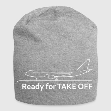 Ready for Take Off - Airplane - Vacation - Travel - Jersey Beanie