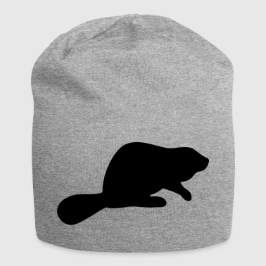 Beaver Silhouette - Jersey-Beanie