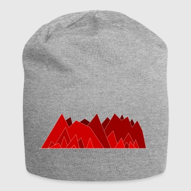 Simplistic Mountains - Jersey Beanie