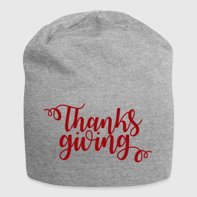 Thanksgiving. Give thanks gifts. Family & Friends. - Jersey Beanie