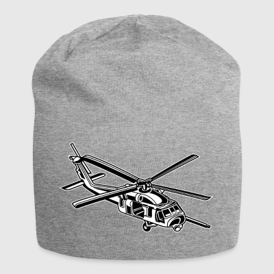 Helicopter / helicopter 01_black white - Jersey Beanie