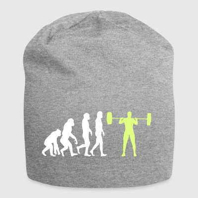 Evolution - Bodybuilder T-Shirt Gift - Jersey Beanie
