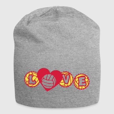 volley waterpolo love capsule heart hear - Jersey Beanie