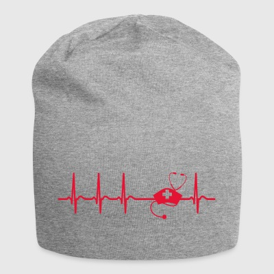 Heartbeat Nurse Carer Cool Gift - Jersey Beanie