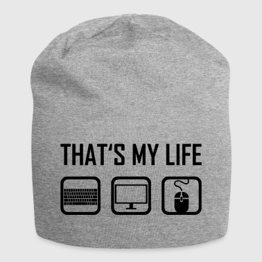 This is my life - computer keyboard monitor - Jersey Beanie