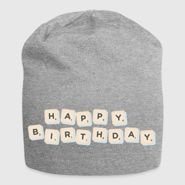 Happy Birthday Scrabble - Jersey Beanie