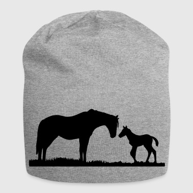 horses, horse, foal - Jersey Beanie