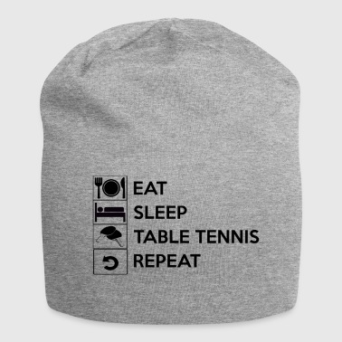 Eat sleep table tennis repeat / table tennis - Jersey Beanie