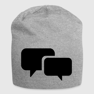 speech bubble - Jersey Beanie