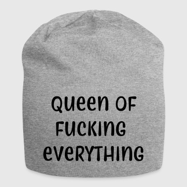 Queen of fucking everything - Jersey Beanie