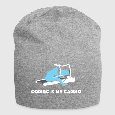 Coding is Mijn Cardio Nerd computercode Sports Gamer - Jersey-Beanie