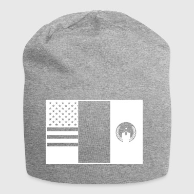 3flags wite - Jersey-Beanie