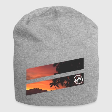 Spiaggia tropicale - Beanie in jersey