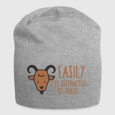 Ziege / Bauernhof: Easily Gets Distracted By Goats - Jersey-Beanie