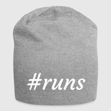 #runs - is running - Jersey Beanie