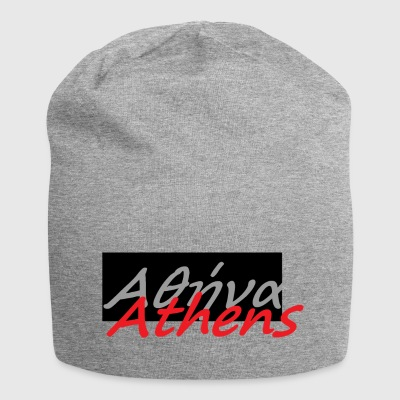 Athens in greek 2 - Jersey Beanie