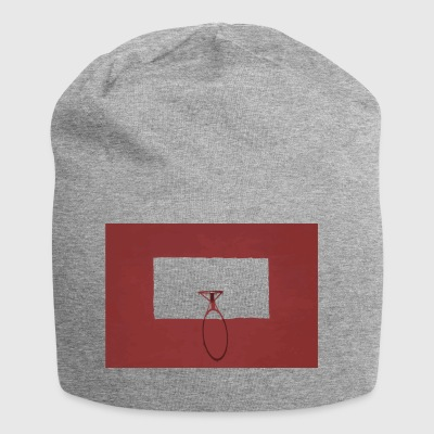 Canestro rosso sport - Beanie in jersey